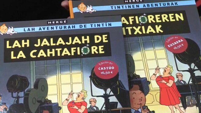 Las nuevas ediciones de Tintín en castúo y euskera