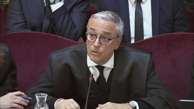 Xavier Melero, abogado de Joaquim Forn, durante una de las sesiones del juicio al procés.