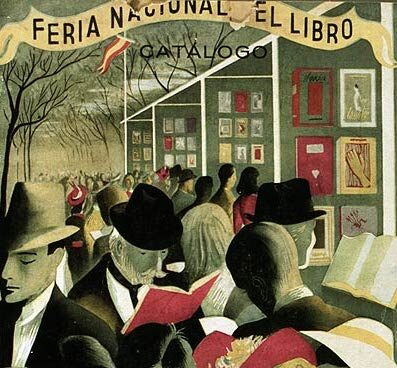 Cartel de la Feria del Libro de 1944.