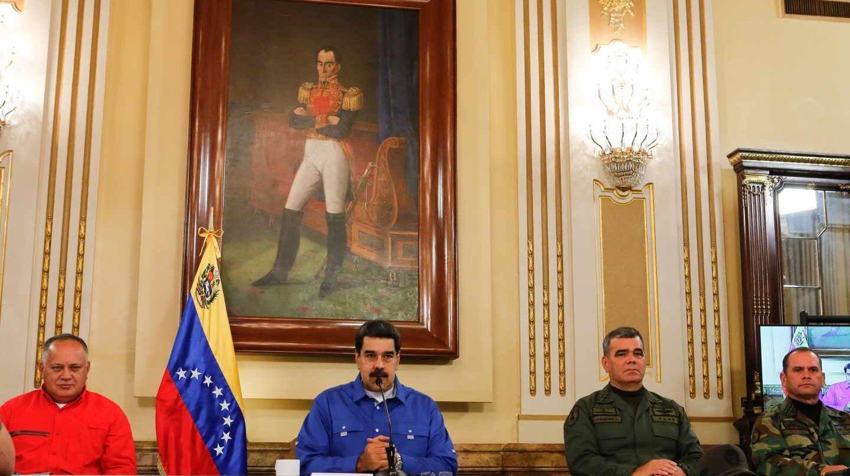 Nicolás Maduro, durante su comparecencia en Caracas.
