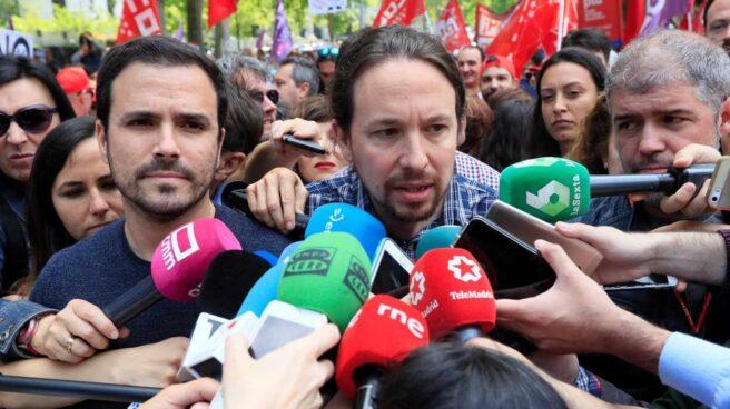 Pablo Iglesias, en la manifestación del 1 de Mayo.