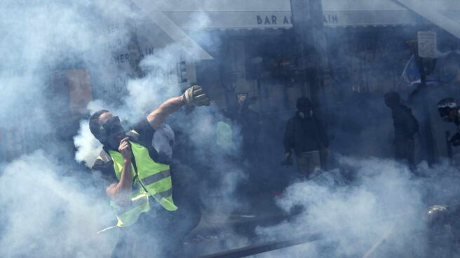 Disturbios en París el 1 de Mayo.