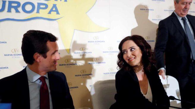 Pablo Casado junto a Isabel Díaz Ayuso