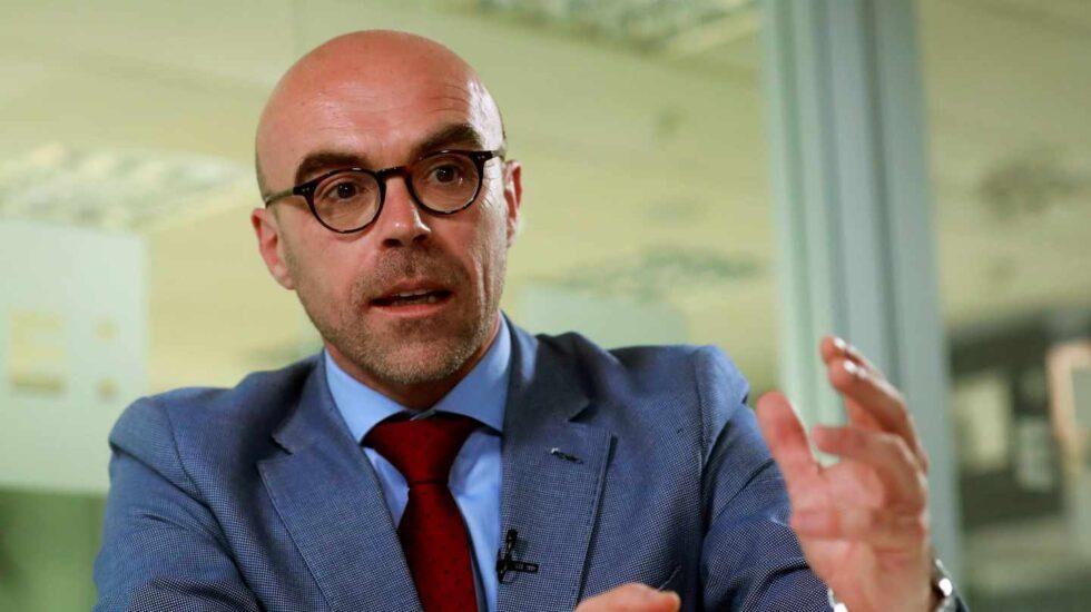 El cabeza de lista de Vox al Parlamento Europeo, Jorge Buxadé, durante una entrevista con Efe.