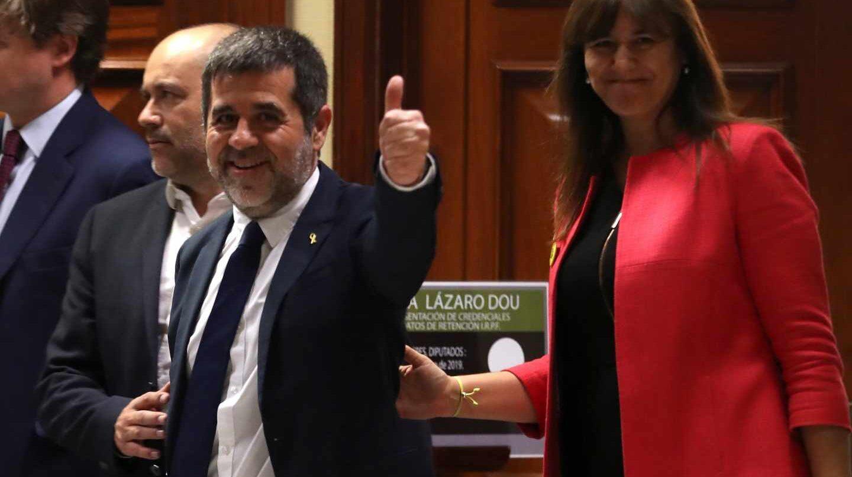 Jordi Sánchez llega al Congreso.