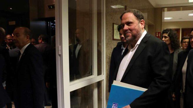 Oriol Junqueras a su llegada al Congreso de los Diputados