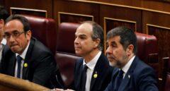 Rull, Turull y Sánchez, en el Congreso.