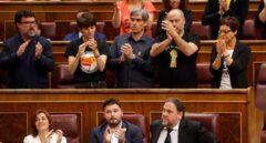 Oriol Junqueras, aplaudido por los diputados de ERC.
