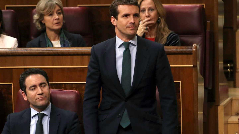 Pablo Casado durante la sesión constitutiva del Congreso