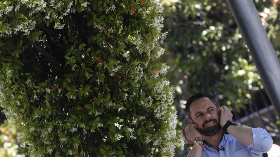 Santiago Abascal en un reciente acto en Pozuelo de Alarcón (Madrid)