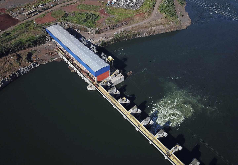Central hidroeléctrica de Iberdrola en Baixo Iguaçu, en Brasil.