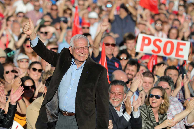El candidato socialista al Parlamento Europeo, Josep Borrell.