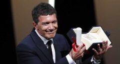 Antonio Banderas, con el premio.