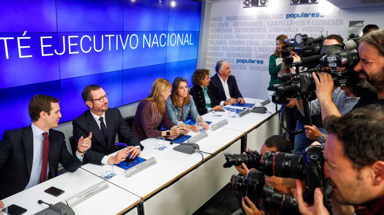 Pablo Casado, en la Ejecutiva del PP.