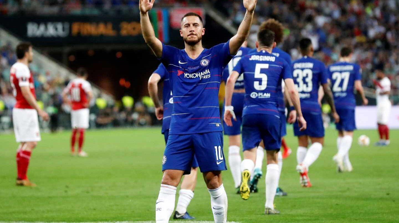 Hazard celebra un gol del Chelsea.