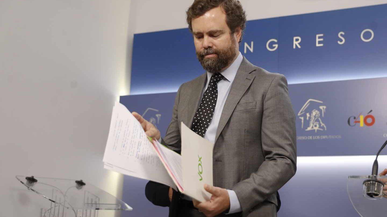 El portavoz parlamentario de Vox, Iván Espinosa de los Monteros