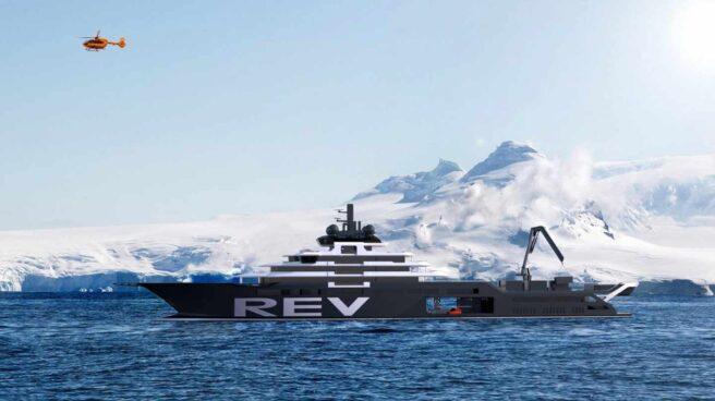 Ilustración del buque de investigación REV.