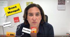 """Colau despide de YouTube atacando a Maragall: """"50 años viviendo de la política"""""""