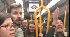 Instante de la escena vivida en el Metro.