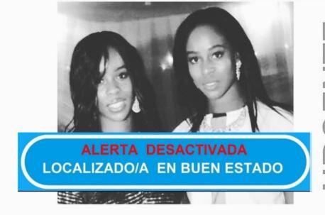 Cartel de localización de las hermanas irlandesas desaparecidas en Madrid.