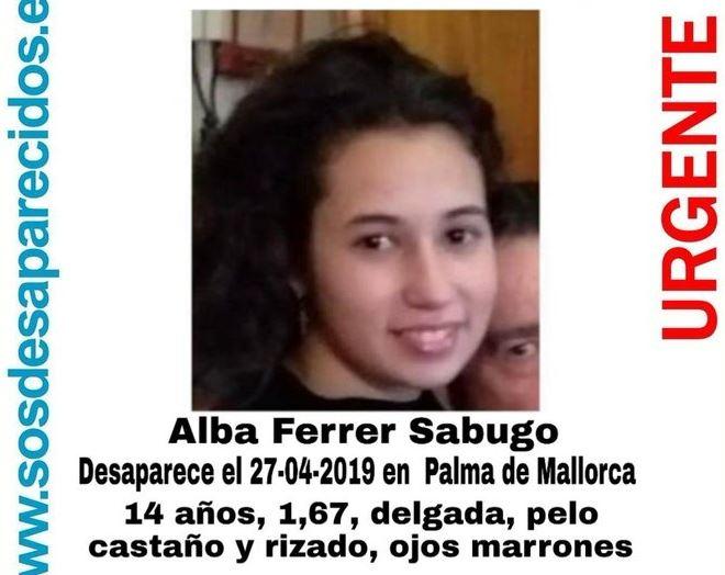 Cartel de la desaparición de Alba Ferrer Sabugo.