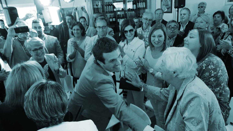 Pablo Casado, en un acto electoral.