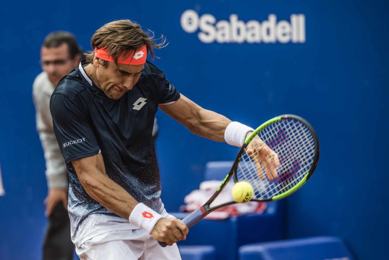 David Ferrer durante el torneo Godó de 2019.