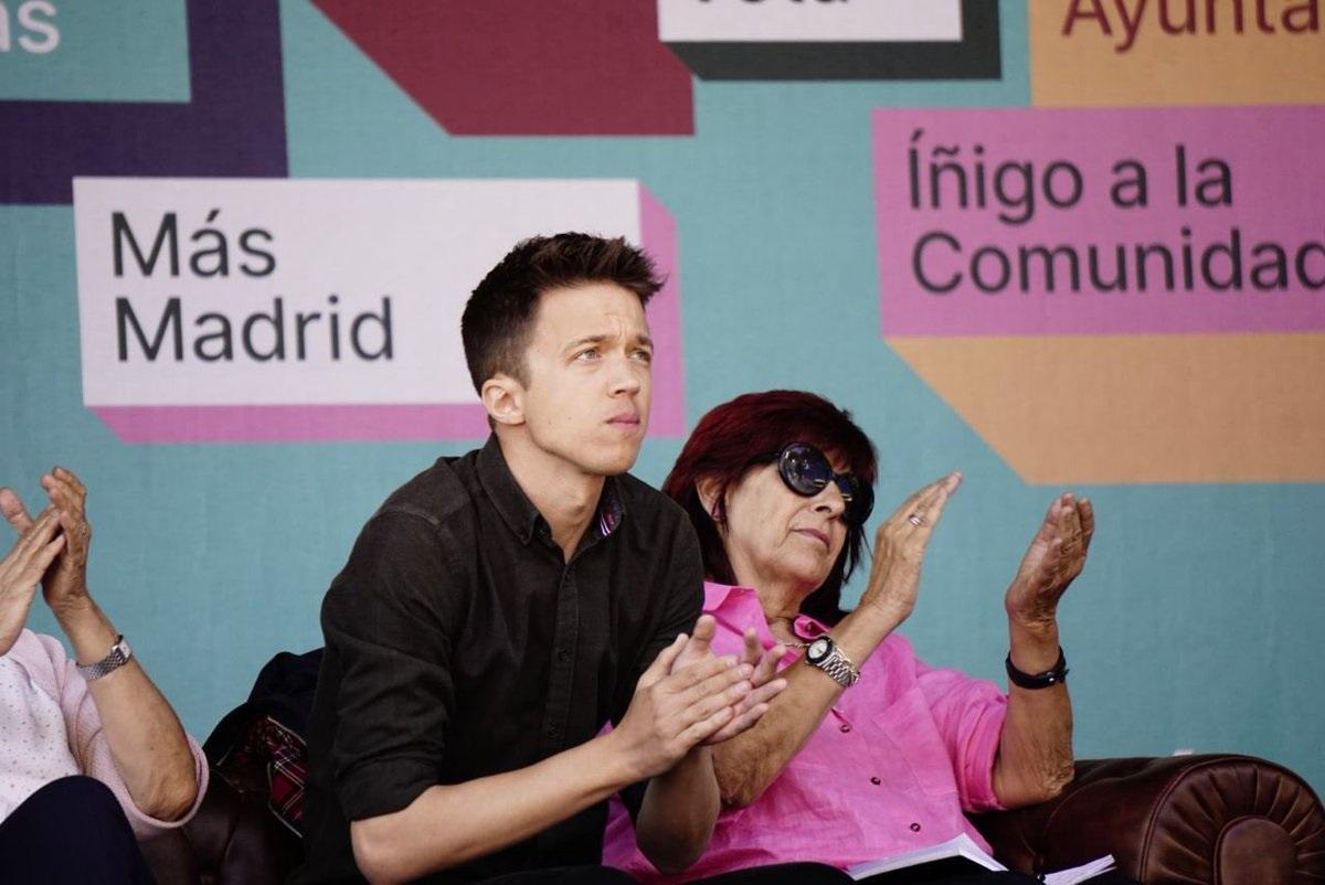 Íñigo Errejón, en un acto de Más Madrid.
