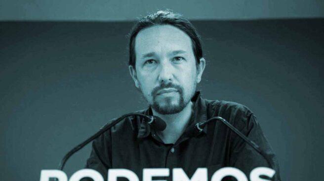 El líder de Podemos, Pablo Iglesias, en su comparecencia tras el 26-M.