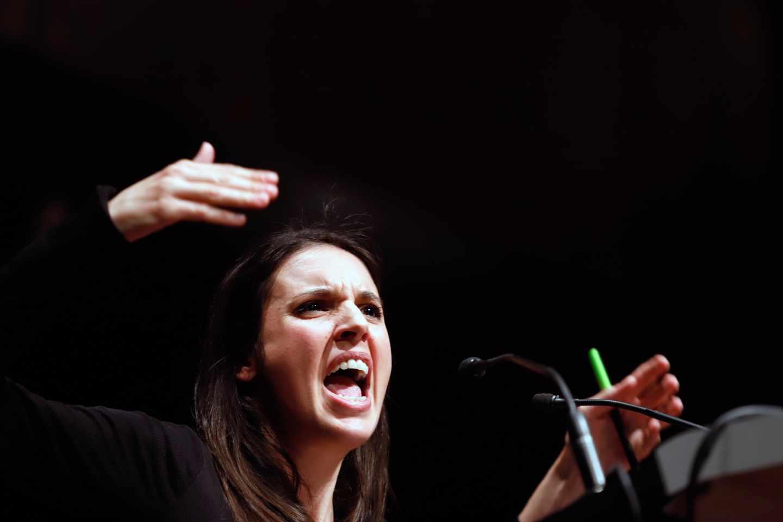 Irene Montero, número dos de Podemos y portavoz parlamentaria