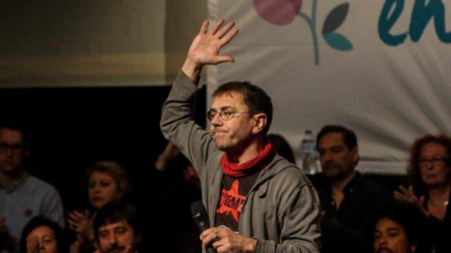Juan Carlos Monedero en un acto de Podemos