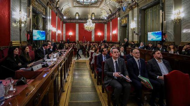 Imagen general de la Sala del Supremo durante una de las sesiones del juicio del procés.