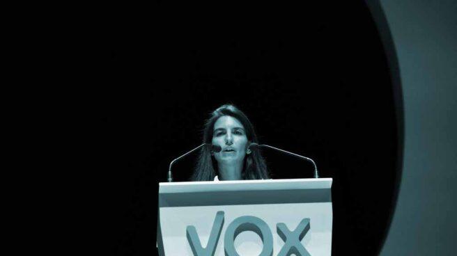 Rocío Monasterio, en un mitin de Vox.