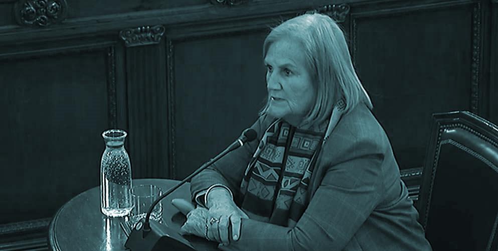 La expresidenta del Parlament, Nùria Gispert.