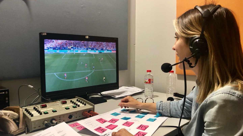 La periodista deportiva, Danae Boronat.