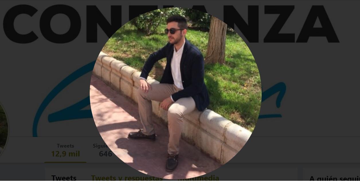 Imagen de perfil de Twitter de Jesús Luque, candidato del PP al Ayuntamiento de Almería.