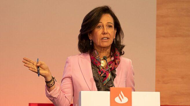 Ana Patricia Botín, durante su intervención en el Día del Inversor organizado por el Banco Santander en Londres.