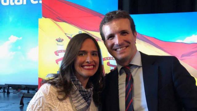 La diputada Belén Hoyo, cuyo nombre suena para la portavocía del Congreso, junto a Pablo Casado