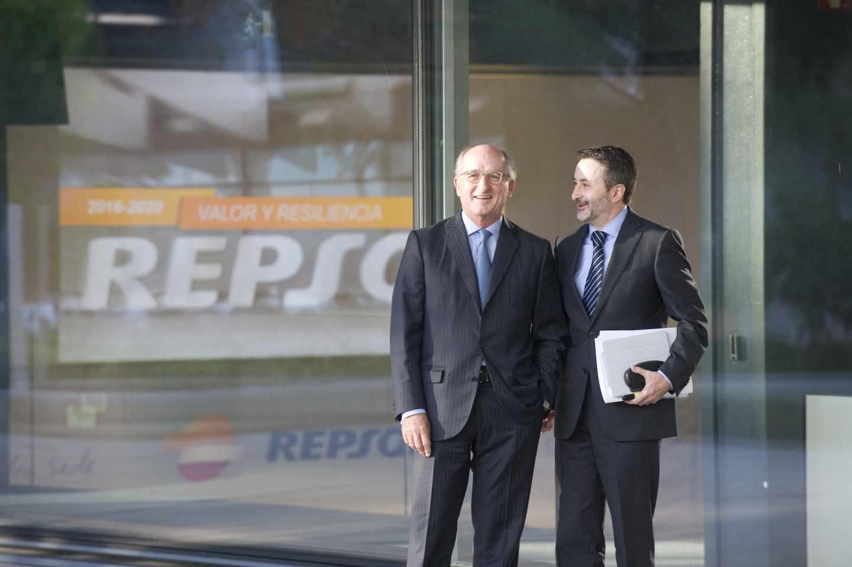 El presidente de Repsol, Antonio Brufau, y el consejero delegado, Josu Jon Imaz.