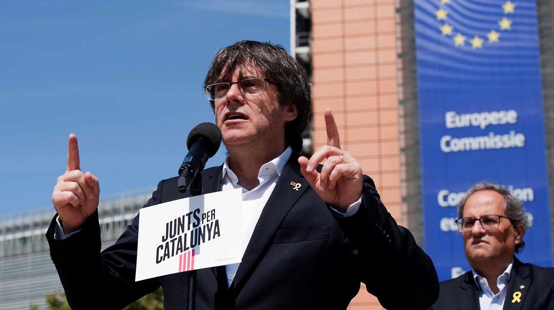 Carles Puigdemont, candidato de Junts en las elecciones europeas.