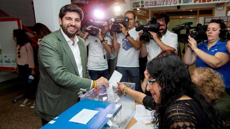 Fernando López Miras, líder del PP en Murcia.