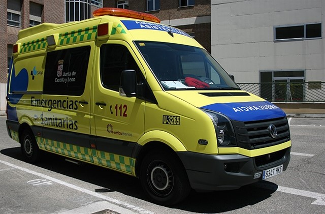 Vehículo de Emergencias 112 de Castilla y León.