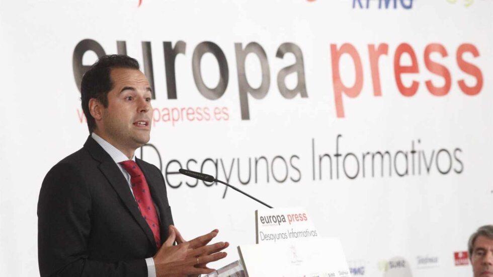 El candidato de Ciudadanos a la Comunidad de Madrid, Ignacio Aguado.