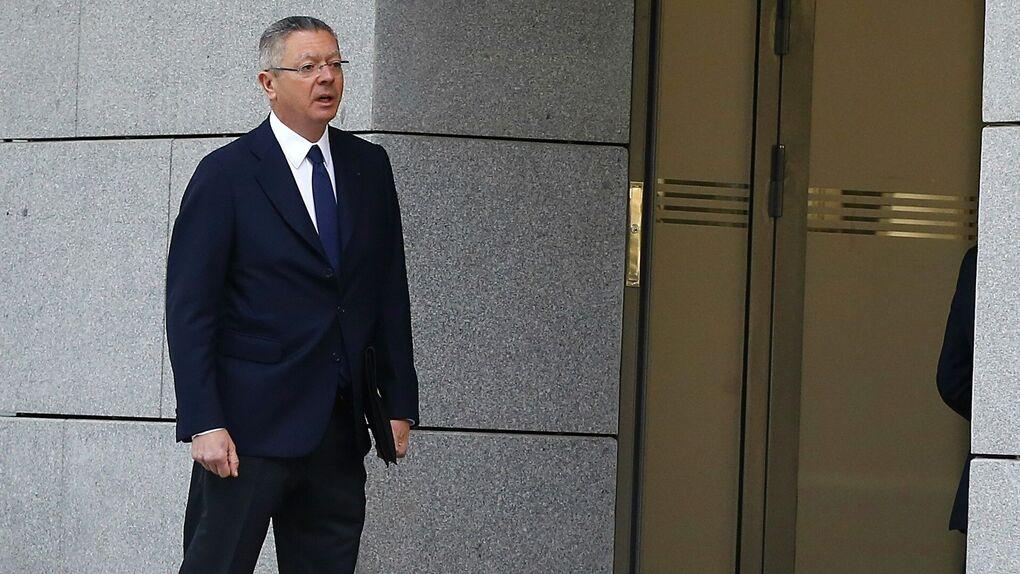 El ex ministro de Justicia Alberto Ruiz Gallardón, llegando a la Audiencia Nacional.
