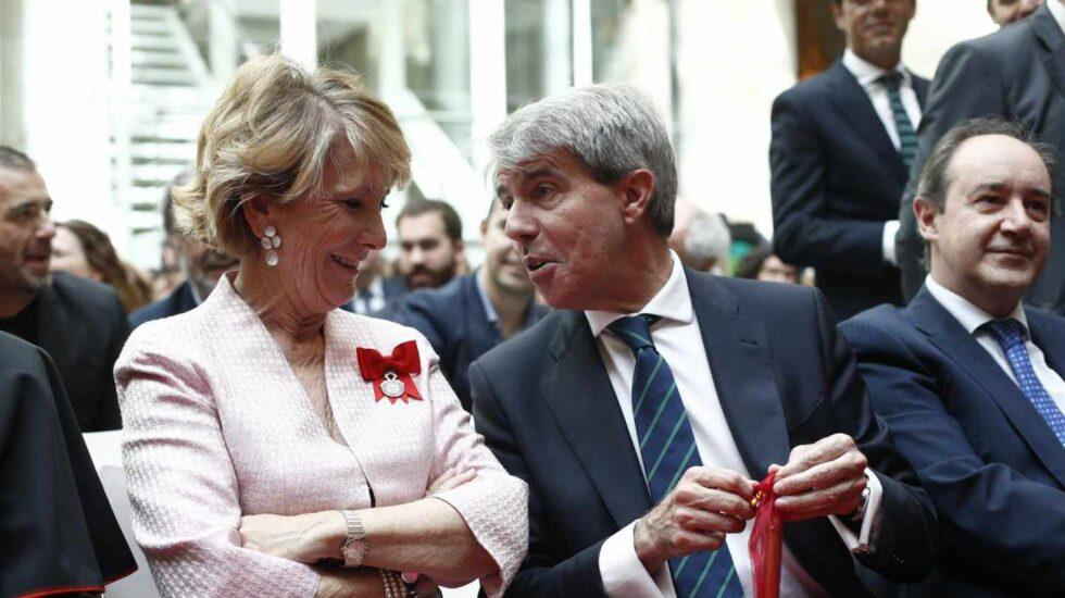 Esperanza Aguirre y Ángel Garrido.