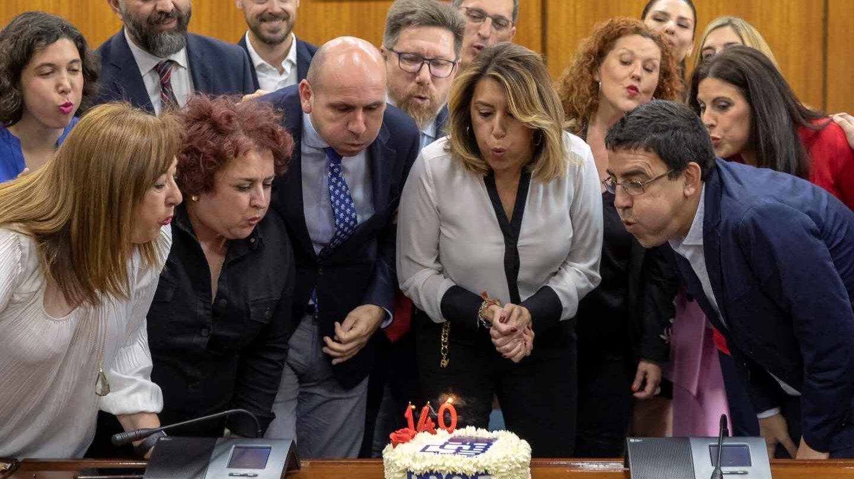 El Grupo Socialista del Parlamento de Andalucía celebra el 140 aniversario del PSOE.