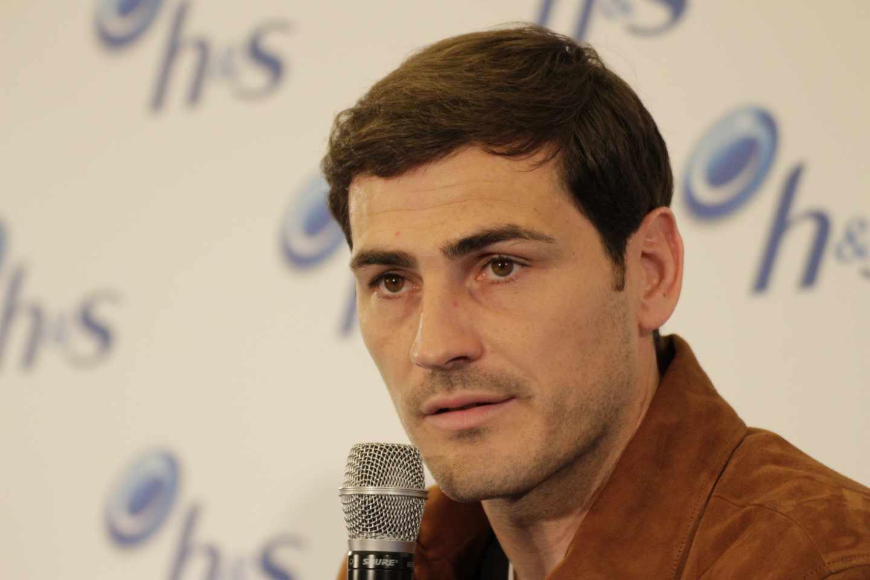 Iker Casillas, durante un acto en Madrid.