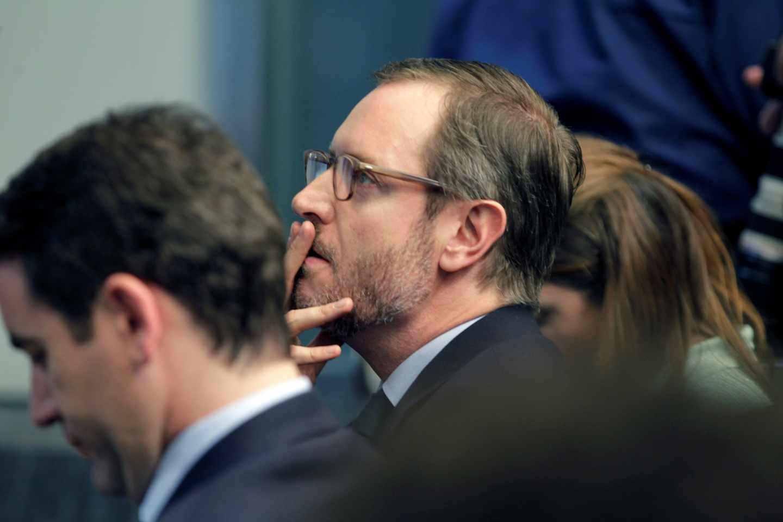Javier Maroto, tras la reunión del PP posterior a las elecciones generales del 28-A.