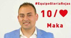 José Manuel Molina Mohamed, 'Maka', en el cartel electoral del PSOE de Melilla.