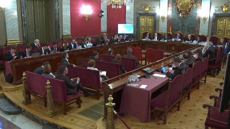 Sala que alberga el juicio a los líderes del procés en el Tribunal Supremo.
